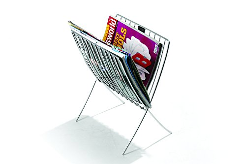 Regis Italio Stainless Steel Home And Office Magazine/Newspaper Display Holder Stand/Rack Organizer  available at amazon for Rs.650