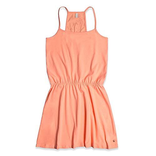 Mädchen Neon Coral (ESPRIT KIDS Mädchen Knit Dress Kleid, Orange (Neon Coral 327), 164 (Herstellergröße: L))