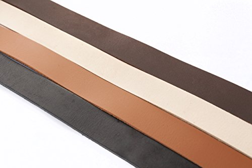 Lederband, Lederriemen Flach 20 x 2 mm. Schwarz 1 Meter