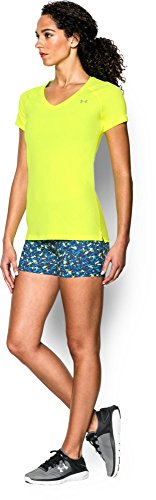 Under Armour 1264264_010 Play Up Short Femme Jaune - Jaune haute visibilité