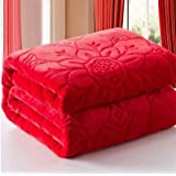 Handicraftworld Ultra Soft Luxurious Embossed Very Warm Korean Mink Blanket Double Bed For Winter