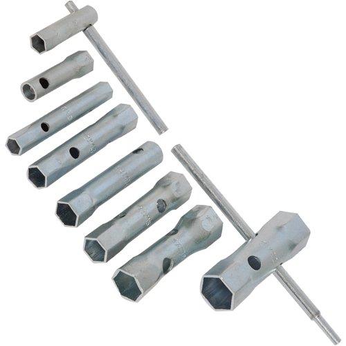 Silverline 571532 Metrische Rohrsteckschlüssel, 8-tlg. Satz 8-22 mm