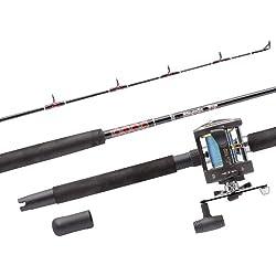 Abu Garcia MT702SWH/GT345 RH Ensemble canne à pêche 2 pièces et moulinet 15-40 lb 210 cm