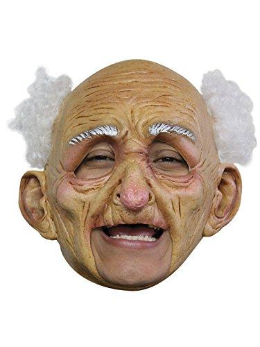 Maske mit Haaren weiss haut ()