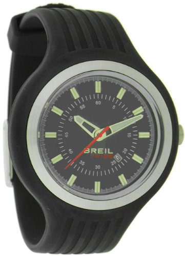 Breil Unisex New Hip Hop Analogue Watch TW0575 with 40mm Stainless Steel Case, and Black Resin Strap