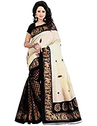Nirmla Fashion Khadi Cotton Silk Saree With Blouse Piece(saree For Hathighoda_Free Size)