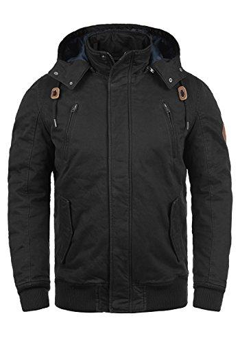 BLEND Ken Herren Winterjacke Jacke mit Stehkragen und abnehmbarer Kapuze  aus 100% Baumwolle 27089474f3
