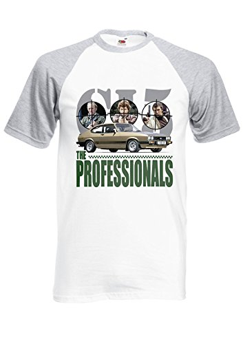 The Professionals Gold Mk3 Ford Capri 3.0s Royal Sports Grey/White Men Women Unisex Shirt Sleeve Baseball T Shirt-XXL (Baseball Womens Gold)