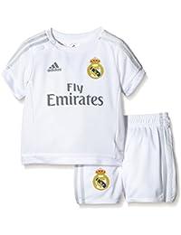 Adidas Real Madrid Home Conjunto, Infantil, Blanco/Gris, 86
