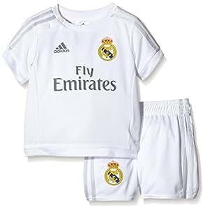 adidas Baby Trainingsanzug Real Home, White/Clear Grey, 68, S12680