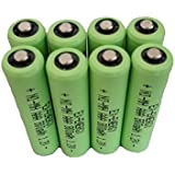 EX-ENERGY AAA 1.2V 800mAh Button Top NiMH Rechargeable Batteries 8 Pack