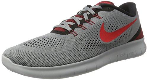 Nike Herren Free Run Outdoor Fitnessschuhe, Grau (Cool Grey/Actn Black-Tm Rd), 40 EU (Free Run Frauen Nike Schwarz)