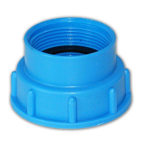 Stabilo-Sanitaer IBC Container Adapter Deckel S60x6 x 1 1/2 Zoll Innengewinde 55/60 mm Anschluss Zubehör Tank Behälter -