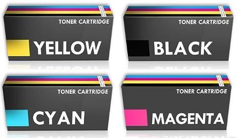 Prestige Cartridge KIT 4 x Cartouches de Laser Toner Compatible deHaut Rendement pour les séries C540n/C543dn/X543dn/C544/X544 - UN
