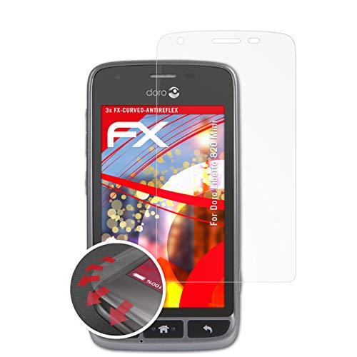 atFolix Schutzfolie passend für Doro Liberto 820 Mini Folie, entspiegelnde & Flexible FX Bildschirmschutzfolie (3X)