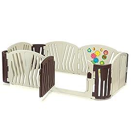 Baby Vivo Box Bambini Recinto Cancelletto Pieghevole Sicurezza Barriera Giochi Protezione - Brown