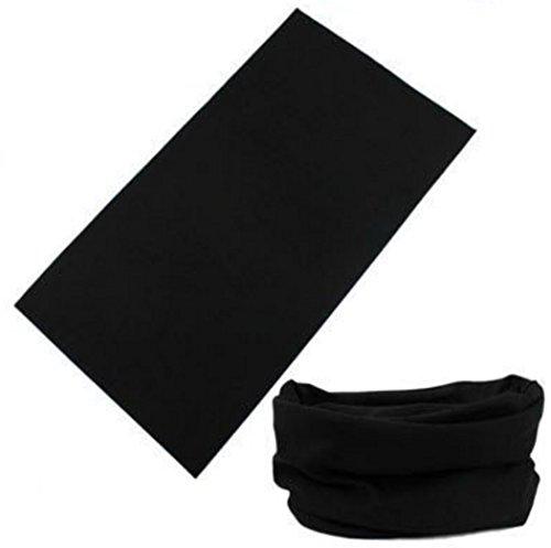 Preskin – drap, tissu multifonctionnel snood, écharpe-tube, cagoule, bandana, boucle, bandeau, ruban, col-écharpe moto   couleurs vives   Grand confort 150MultiLoopUniBlack