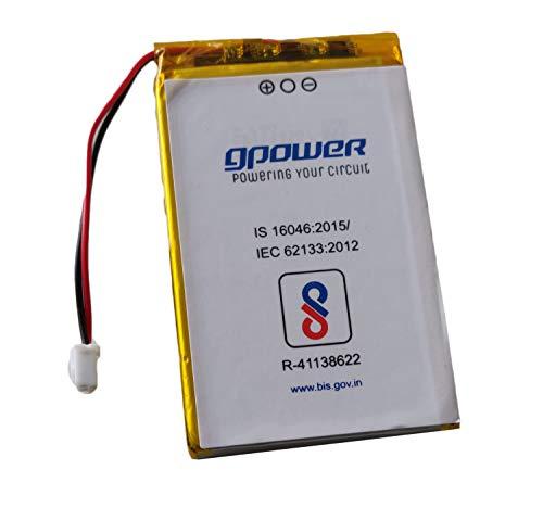 GPower GPWR 605580PL Rechargeable Li ion Polymer Battery, 3.7V,3500mAH