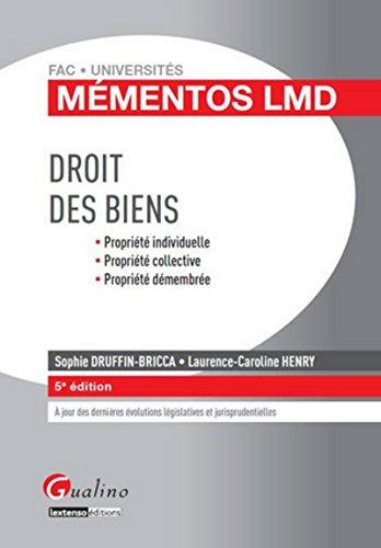 Mémentos LMD Droit des biens, 5ème édition