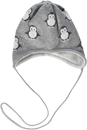 Döll Baby-Mädchen Mütze Inka Bindemütze Strick, Grau (Light Gray Melange 8100),...