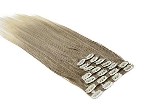 Prettyshop xl set 7 pezzi clip nelle estensioni estensione dei capelli parte dei capelli liscio fibra sintetica termoresistente ombre marrone bionda # 12t613 ce20