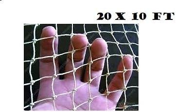 Kriwin Anti Bird Agro Net with Nylon Ropes for Easy Tying (White, 200 sq ft)