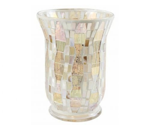 Yankee Candle,Gold Wave Glass Mosaic tea light holder, bright, colourful, 22.5x 16x 16 cm, 1521496