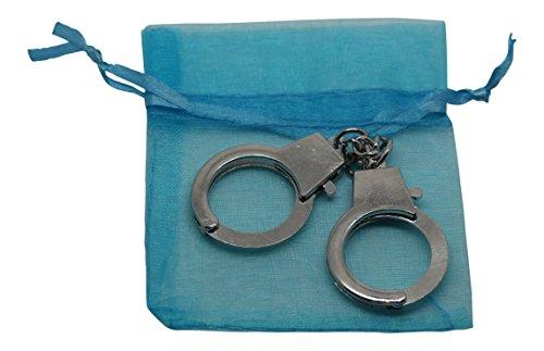 UltraByEasyPeasyStore Ultra Mini 12cm Metall Handschellen Manschette geformt Schlüsselbund mit lila Geschenktüte für Schlüsselanhänger Schlüssel 12cm Größe auch eine lila Geschenktüte (Rosa)