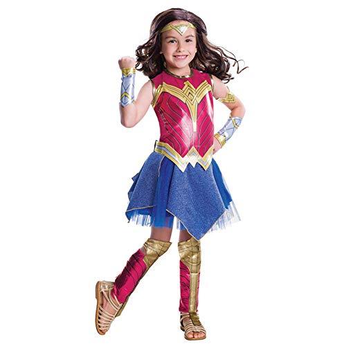 CYGGA Wonder Woman Kleid Cosplay Halloween Kostüm für Erwachsene Kinder,L(130~145CM) (Alte Wonder Woman Kostüm)