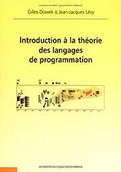Introduction à la théorie des langages de programmation