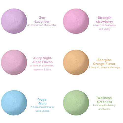 6 piezas Bombas baño orgánicas Sales baño burbujas
