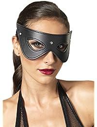 Leg Avenue Masque Fantaisie Faux Cuir Kink Taille Unique Noir