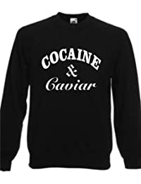 COCAINE & CAVIAR ~ BLACK SWEATSHIRT ~ UNISEX SIZES S-XXXL