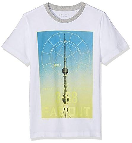 ESPRIT Jungen T-Shirt RJ10266, Weiß (White 010), 164 (Herstellergröße: L)