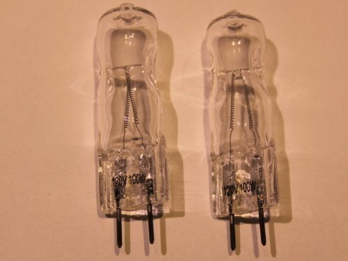 2 Stück Halogenlampe Stiftsockel 120V/100W GX6,35 G6,35/GX/GY/G-6,35 -