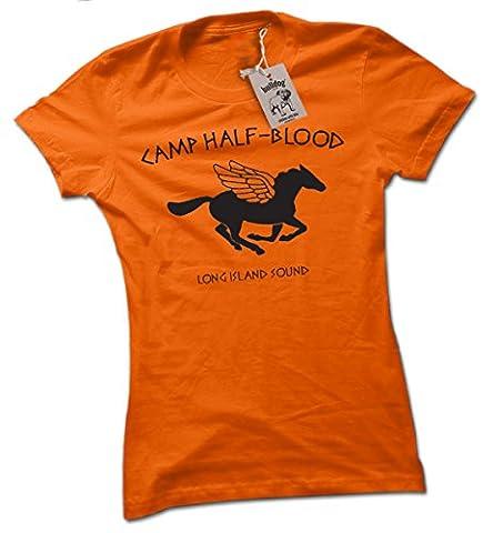 geekalicious tees bybulldog® Damen T-Shirt Gr. L, Orange -