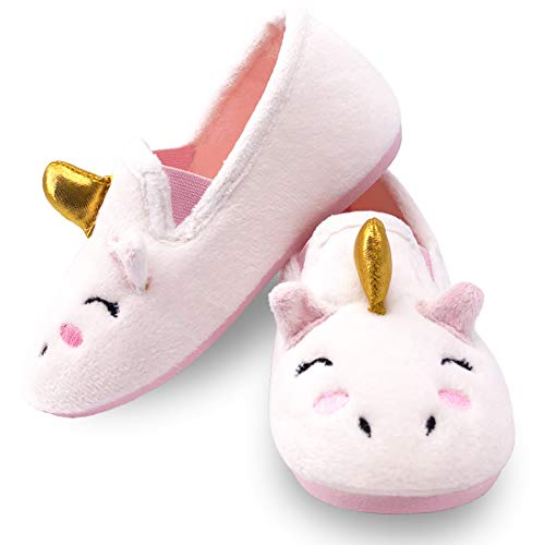 Dream Bridge Kids Slippers Anti-Slip Cotton Shoes for Boys Girls Indoor Outdoor