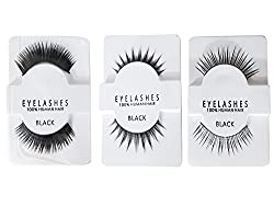 Real Human Hair Eyelashes For Eye Make up | Lashes Reusable Eyelash For Makeup | Human Hair Eyelashes (Normal+ Medium + Heavy)