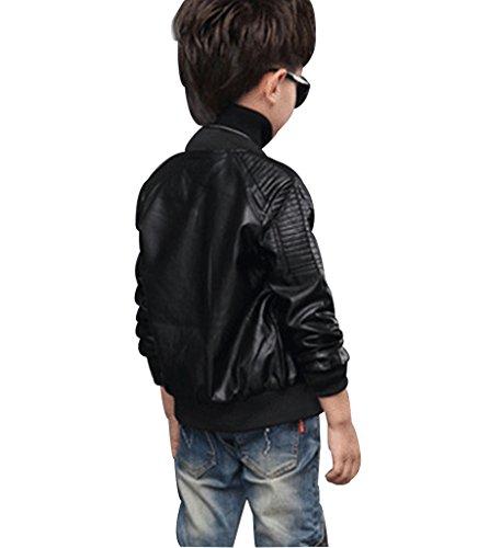 YoungSoul Giacche Autunnali Invernali Bambino Cappotti Ecopelle Manica lunga  Ragazzo Giubbotto Finta Pelle Moto per bambini bf5ab494072