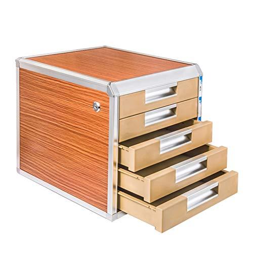 Hänge- & Einstellmappen Aktenschrank Aluminiumlegierung Schloss Schublade A4 Papier Datenschrank kurz Schrank Datei Desktop-Schrank