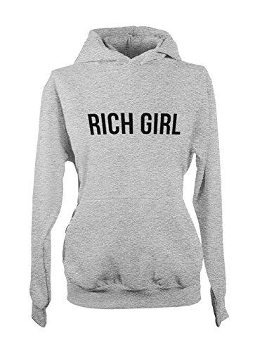 Rich Girl Cool Femme Capuche Sweatshirt Gris