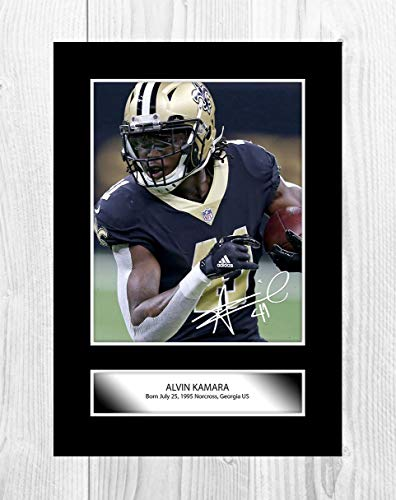 230e2f85568 Engravia Digital Alvin Kamara NFL New Orleans Saints - Poster Formato A4  con Riproduzione di Foto