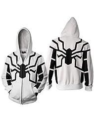 Giochi d'imitazione 5starservices143D Stampato Spiderman Venom Super Eroe Costume con Cappuccio Zipper Cardigan con Cappuccio Maglione Sport Jacket Kid Adulti Fashion Cool Cloth Keep Warm e Unico in Inverno