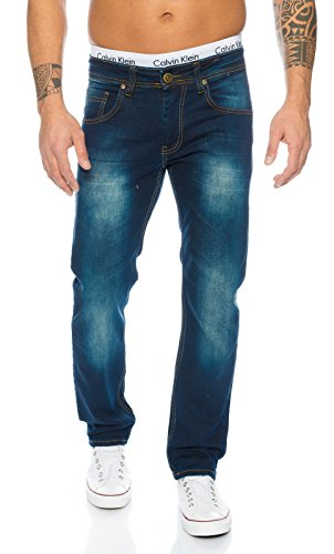 Rock Creek Herren Jeans Blau LL-397 [W38 L34]