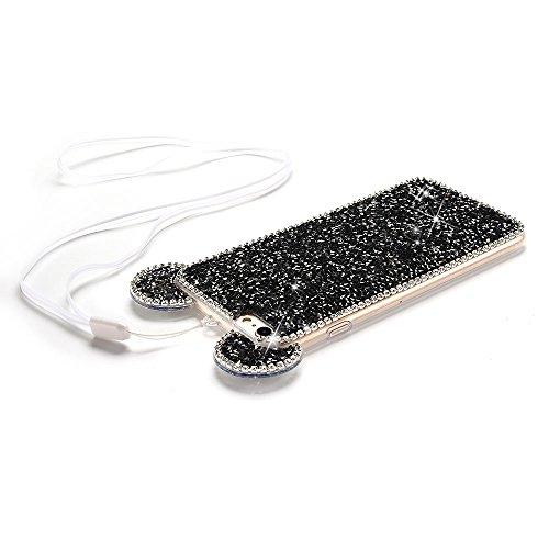 iPhone 6 Plus Hülle [5.5 Zoll] , Glänzend Kristall Maus Ohren Tasche Ultra Slim Weich TPU Schutzhülle Flexibel Rubber Ultradünnen Silikon Etui Anti-stoß Fit Cove Telefon-Kasten Kratzfeste Schutz Schal Schwarz