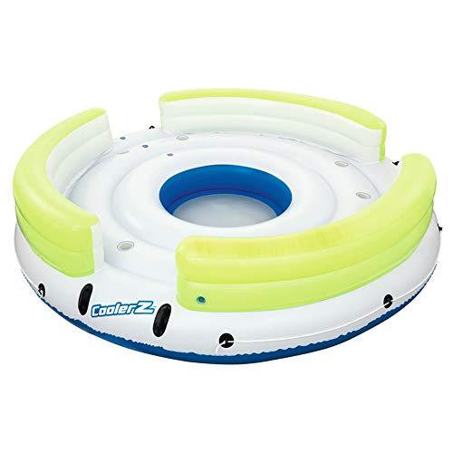 6 Personen Riesen Aufblasbare Runde Lazy Day Party Insel Float Boot Schwimmbad Schwimmt Sea Longue Bett Wasser Spielzeug See Floß -