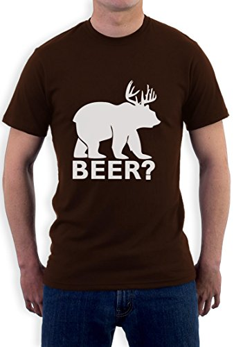 BEER deer bear T-Shirt Braun