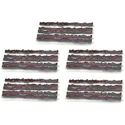 25 x Mechas Impregnadas de reparacion tubeless Ø1,5x50mm para Camaras Ruedas Bicicleta 3562