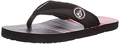 Volcom  Vocation Creedlers By, Tongs pour garçon - Rouge - Rot (Red / Red), 32 EU