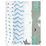 Swaddle wrap for New Born - Organic Muslin Cotton Pack of 4, Zigzag